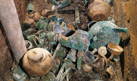 An excavation at the Nanyue tomb