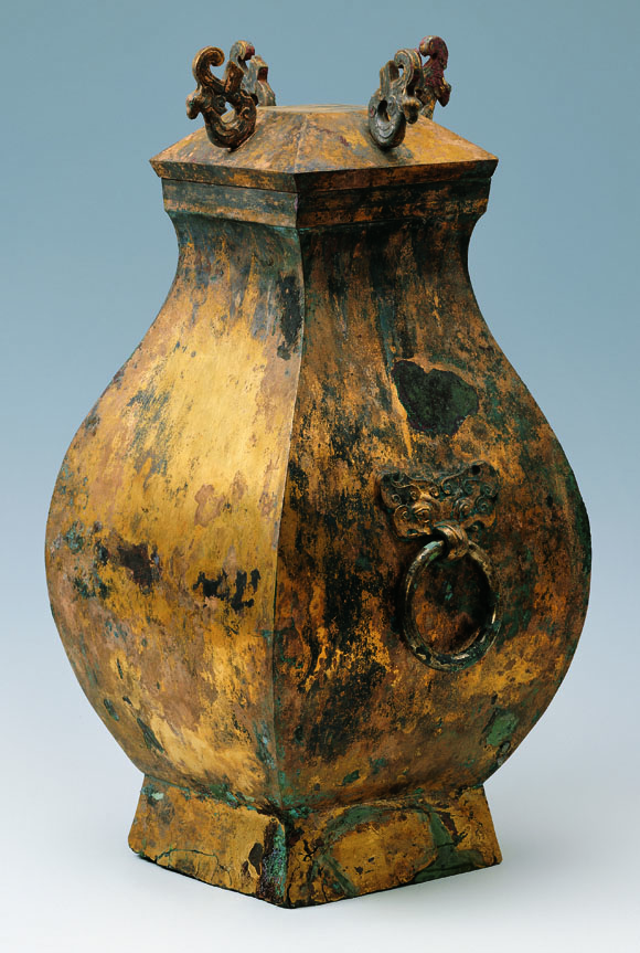 Gilt bronze wine container